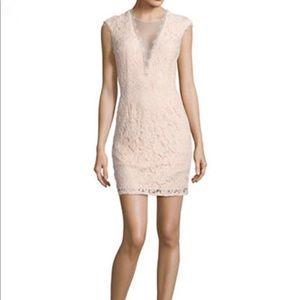 Aidan Mattox floral lace short dress